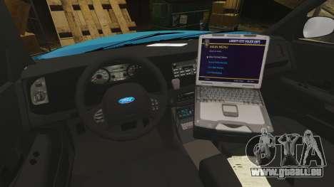 Ford Crown Victoria NYPD [ELS] pour GTA 4 Vue arrière