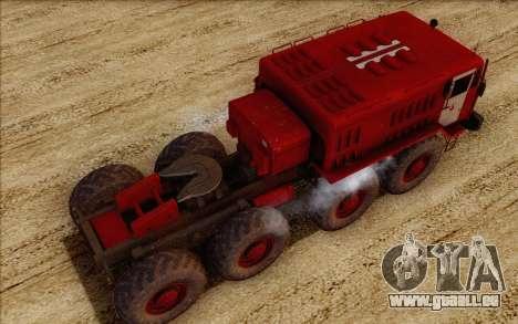 MAZ 535 pompier pour GTA San Andreas vue arrière