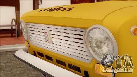 Taxi VAZ 21011 pour GTA San Andreas vue arrière