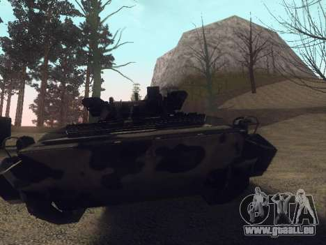 BMP-2 pour GTA San Andreas vue intérieure