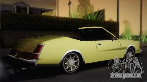 2 portes cabriolet, Washington pour GTA San Andreas laissé vue