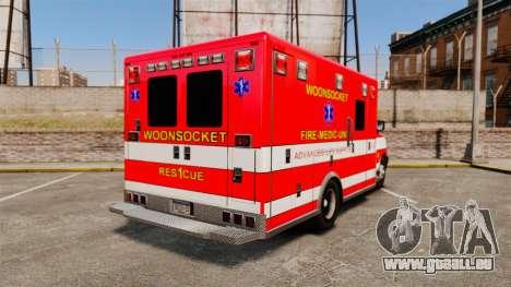 Brute Woonsocket Fire Medic Unit [ELS] pour GTA 4 Vue arrière de la gauche