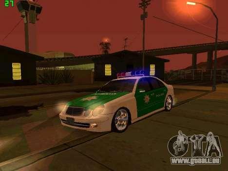 Mercedes-Benz  E500 Polizei für GTA San Andreas Innenansicht