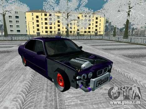 BMW 525i e34 Hobo pour GTA San Andreas vue arrière