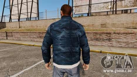 Coupe-vent bleu camouflage pour GTA 4 secondes d'écran