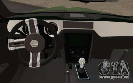 Ford Mustang GT 2013 pour GTA San Andreas vue de droite
