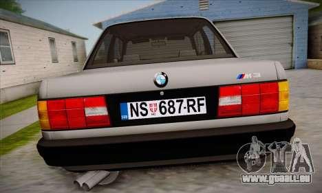 BMW M3 E30 pour GTA San Andreas salon