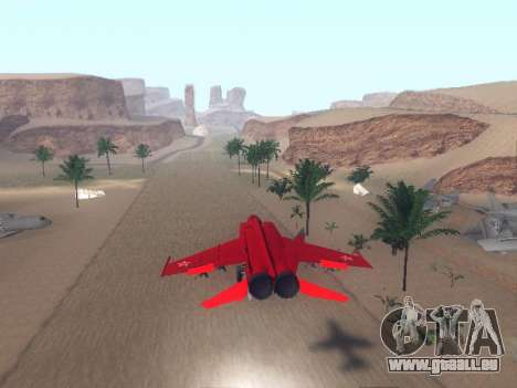 MiG 25 pour GTA San Andreas vue de droite