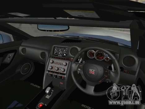 Nissan GT-R Spec V Stance pour GTA San Andreas vue de dessus