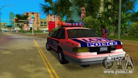 GTA IV Police Cruiser für GTA Vice City rechten Ansicht
