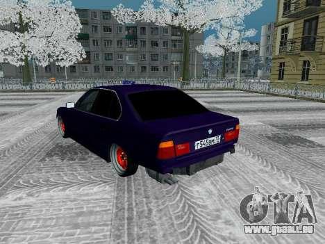 BMW 525i e34 Hobo pour GTA San Andreas vue intérieure