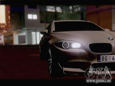 BMW M5 F11 Touring für GTA San Andreas Innenansicht