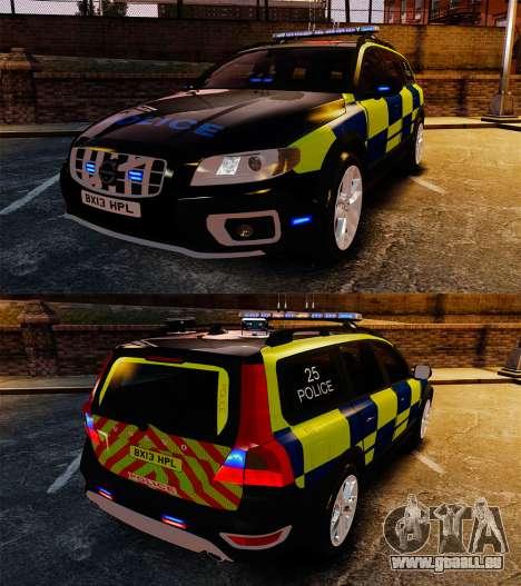 Volvo XC70 Police [ELS] pour GTA 4 est une vue de l'intérieur