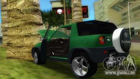 Toyota RAV 4 L 94 Fun Cruiser pour une vue GTA Vice City de l'intérieur