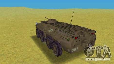 BTR-80 pour GTA Vice City sur la vue arrière gauche