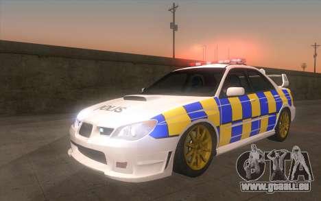 Subaru Impreza 2006 WRX STi Police Malaysian für GTA San Andreas