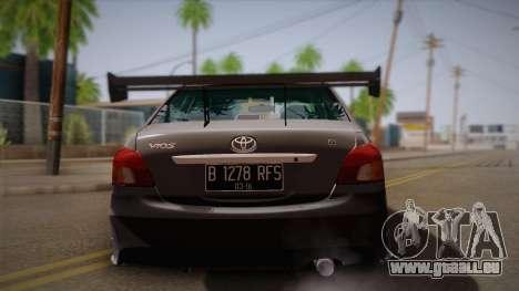 Toyota Vios Slalom Edition für GTA San Andreas rechten Ansicht