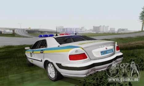 GAZ-3111 Miliciâ Ukraine pour GTA San Andreas vue de droite