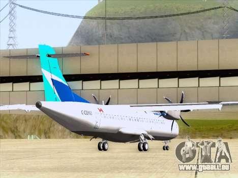 ATR 72-500 WestJet Airlines pour GTA San Andreas sur la vue arrière gauche