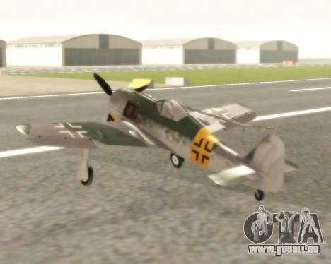 Focke-Wulf FW-190 F-8 pour GTA San Andreas sur la vue arrière gauche
