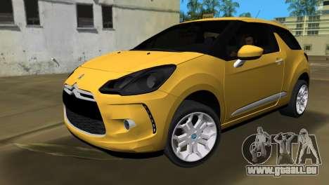 Citroën DS3 2011 pour GTA Vice City