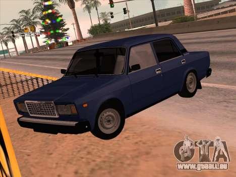 ВАЗ 21074 pour GTA San Andreas vue intérieure