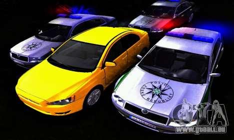 Skoda Superb POLICIE für GTA San Andreas Rückansicht