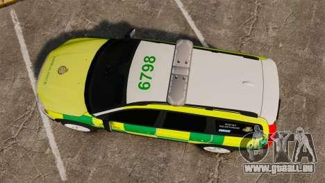 Volvo XC70 Paramedic [ELS] für GTA 4 rechte Ansicht
