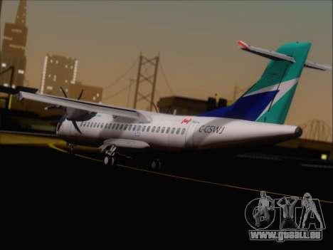 ATR 72-500 WestJet Airlines für GTA San Andreas rechten Ansicht