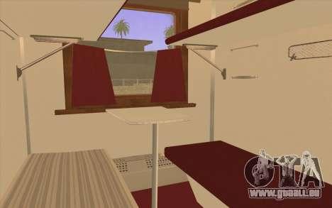 Reservierter Sitzplatz Waggon für GTA San Andreas zurück linke Ansicht