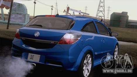 Vauxhall Astra VXR  2007 für GTA San Andreas zurück linke Ansicht