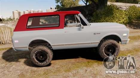 Chevrolet K5 Blazer pour GTA 4 est une gauche
