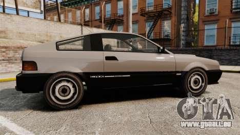 Blista CRX für GTA 4 linke Ansicht