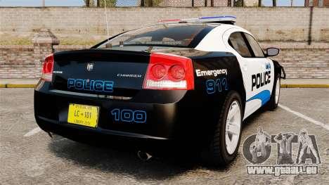 Dodge Charger 2010 Police [ELS] pour GTA 4 Vue arrière de la gauche