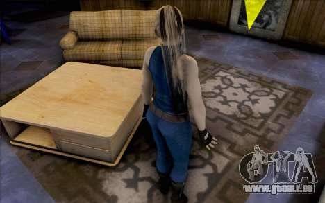 Sarah de Dead or Alive 5 pour GTA San Andreas troisième écran
