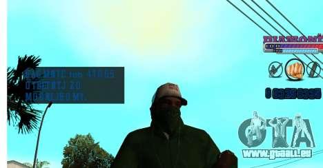 Avec Diamond-HUD RP pour GTA San Andreas troisième écran