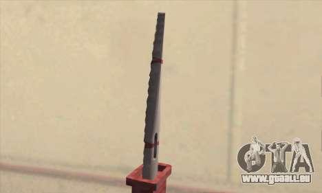 Faca Knife pour GTA San Andreas troisième écran