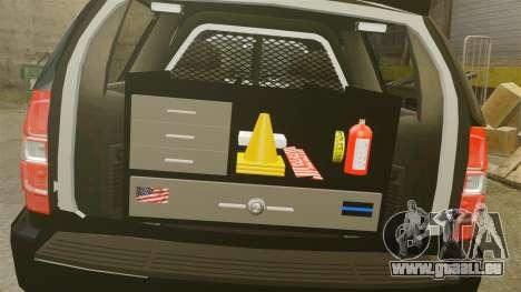 Chevrolet Tahoe 2008 Federal Signal Valor [ELS] pour GTA 4 est une vue de l'intérieur