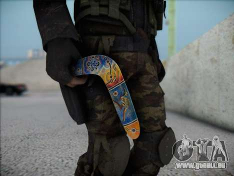 Boomerang pour GTA San Andreas troisième écran