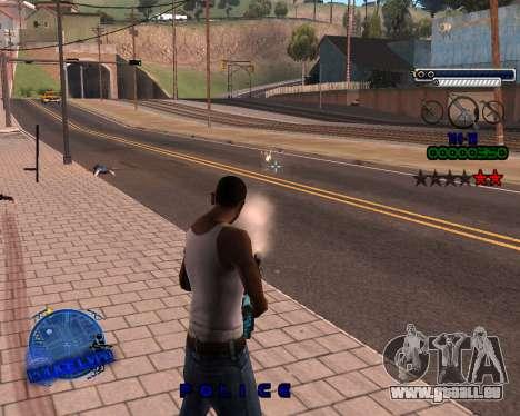 C-HUD Police LVPD für GTA San Andreas dritten Screenshot