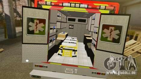 Ford E-350 LAFD Ambulance [ELS] pour GTA 4 est une vue de l'intérieur