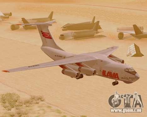 Il-76td IlAvia für GTA San Andreas linke Ansicht
