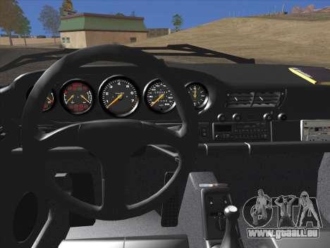 Porsche 911 Speedster Carrera 2 1992 pour GTA San Andreas vue de dessus
