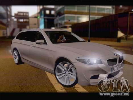 BMW M5 F11 Touring pour GTA San Andreas laissé vue