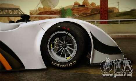 Caterham-Lola SP300.R pour GTA San Andreas vue intérieure