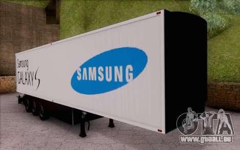 Samsung Galaxy S Trailer für GTA San Andreas linke Ansicht