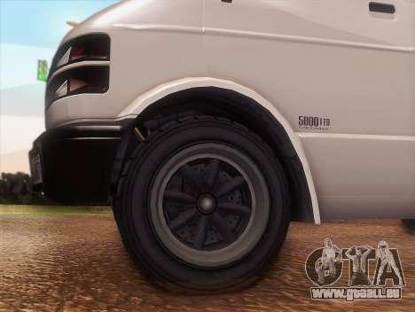 Youga GTA 5 pour GTA San Andreas vue de droite