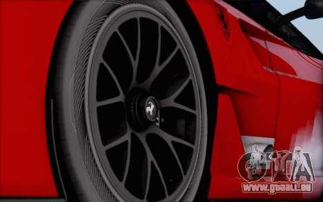 Ferrari 599XX Evolution pour GTA San Andreas sur la vue arrière gauche
