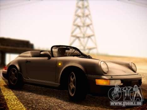 Porsche 911 Speedster Carrera 2 1992 pour GTA San Andreas sur la vue arrière gauche