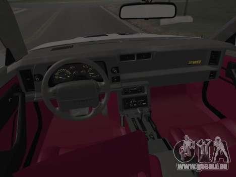 Chevrolet Camaro IROC-Z 1990 pour GTA San Andreas roue